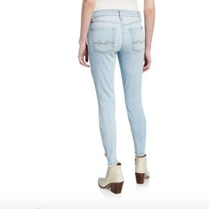 7 For All Mankind Jeans - 7 For All Mankind Gwenevere Raw Angled-Ankle Jeans